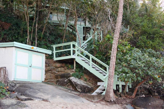 Stairs from The Beach House to the beach