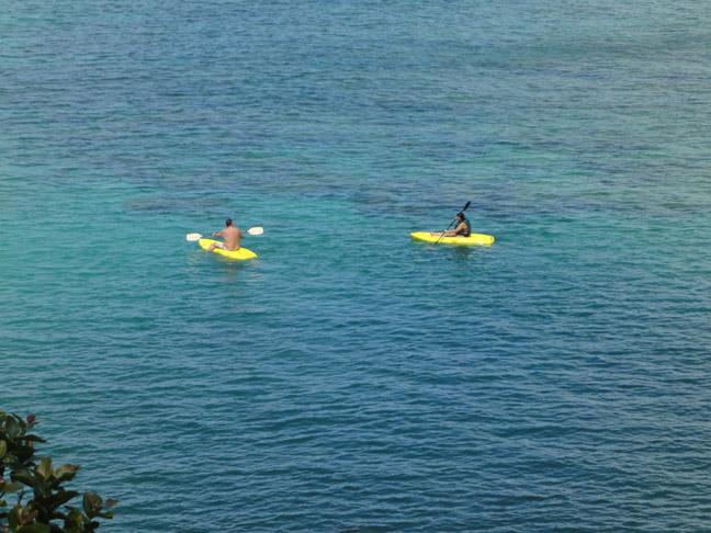 The summer seas are perfect for kayaking