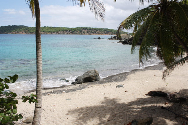 Private, secluded beach