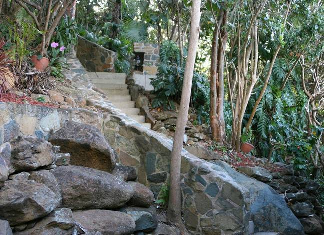 Stairway from driveway